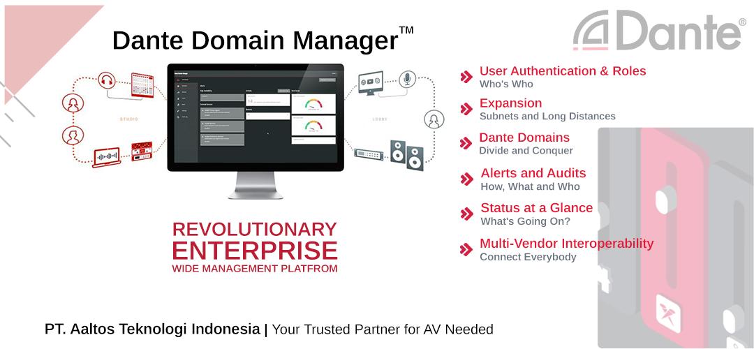 Dante Domain Manager AV Network Management Tool