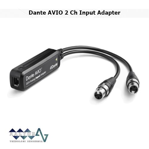 Dante AVIO 2 Ch Input Adapter